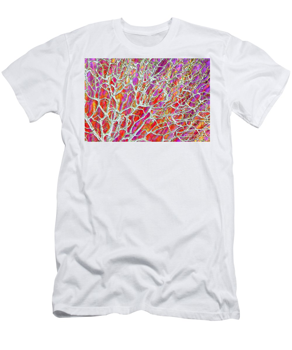 Purple Men's T-Shirt (Athletic Fit) featuring the photograph Energetic Abstract by Carol Groenen
