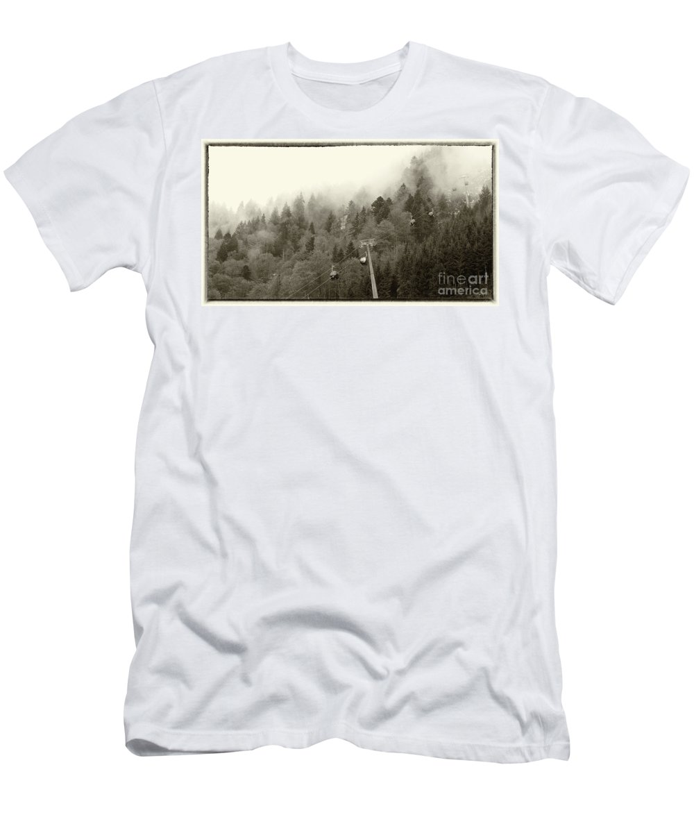 Switzerland Men's T-Shirt (Athletic Fit) featuring the photograph Engelberg-3 by Milind Ketkar