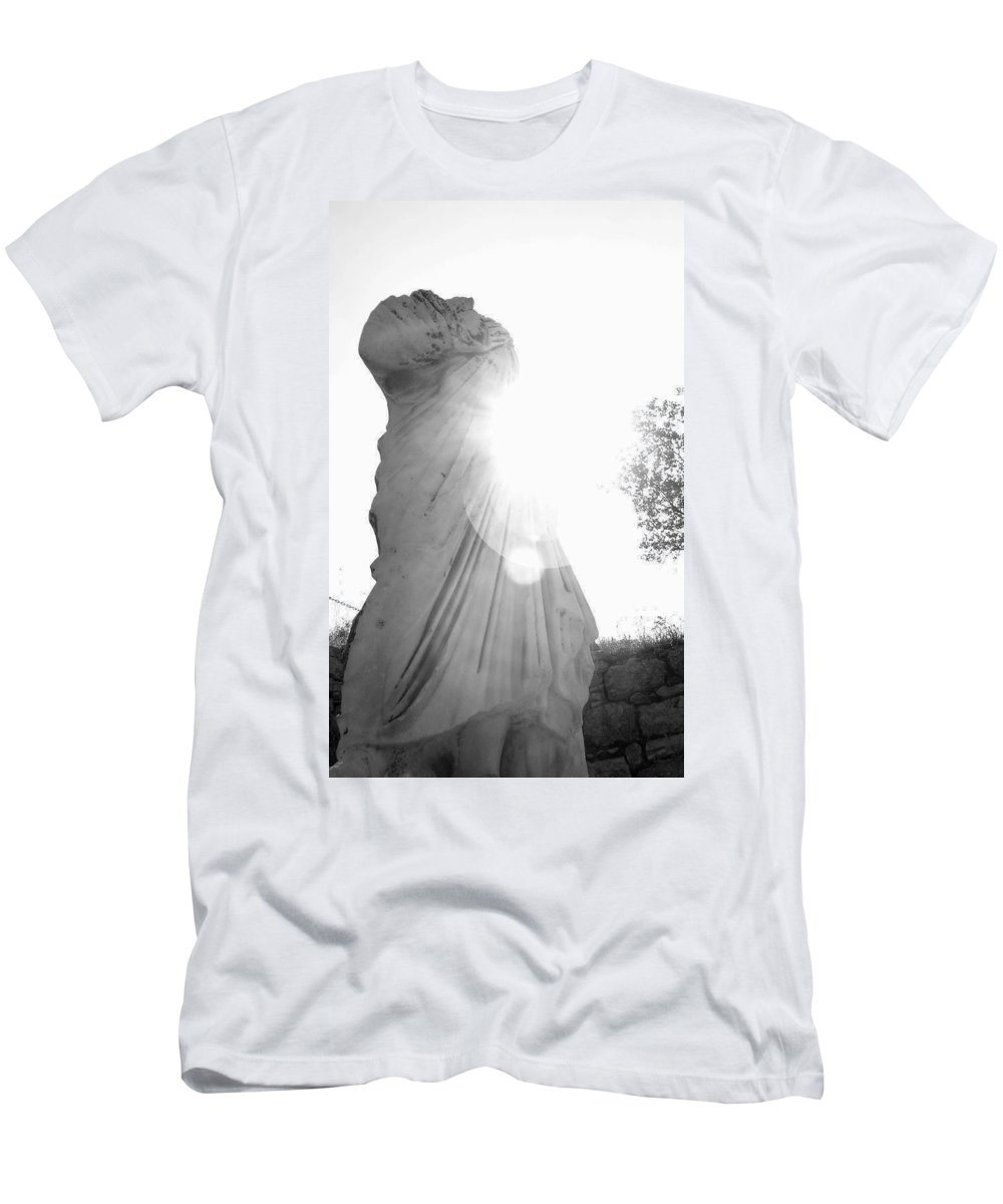 Statue Men's T-Shirt (Athletic Fit) featuring the photograph Ephesian Statue by Jennifer Kelly