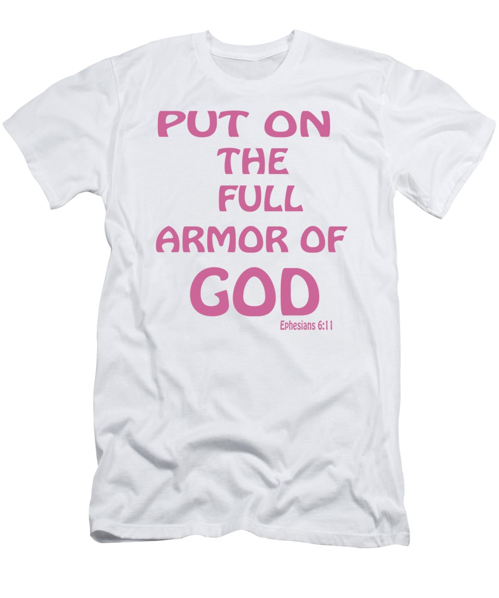 Word Men s T-Shirt (Athletic Fit) featuring the digital art Ephesians 6 11 aa3dae3a2