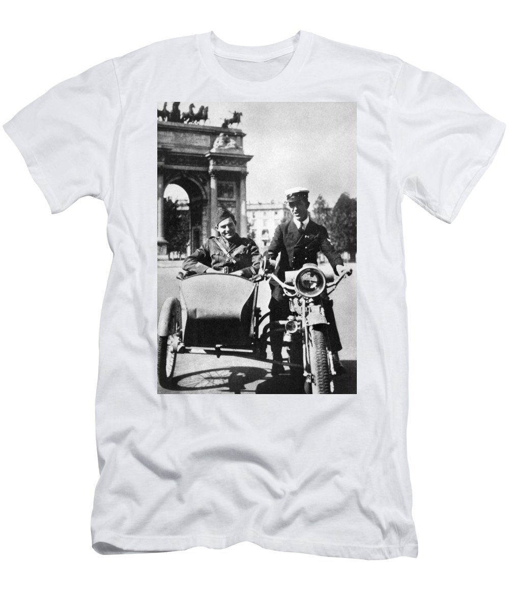 1918 Men's T-Shirt (Athletic Fit) featuring the photograph Ernest Hemingway (1899-1961) by Granger