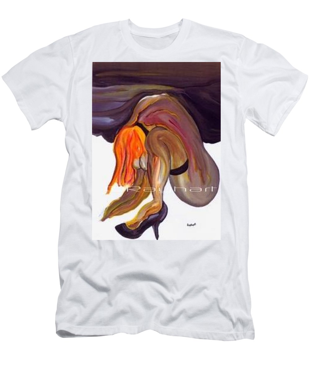 Female Abstract T-Shirt featuring the painting Erotica - SOLD by Artist Rayhart