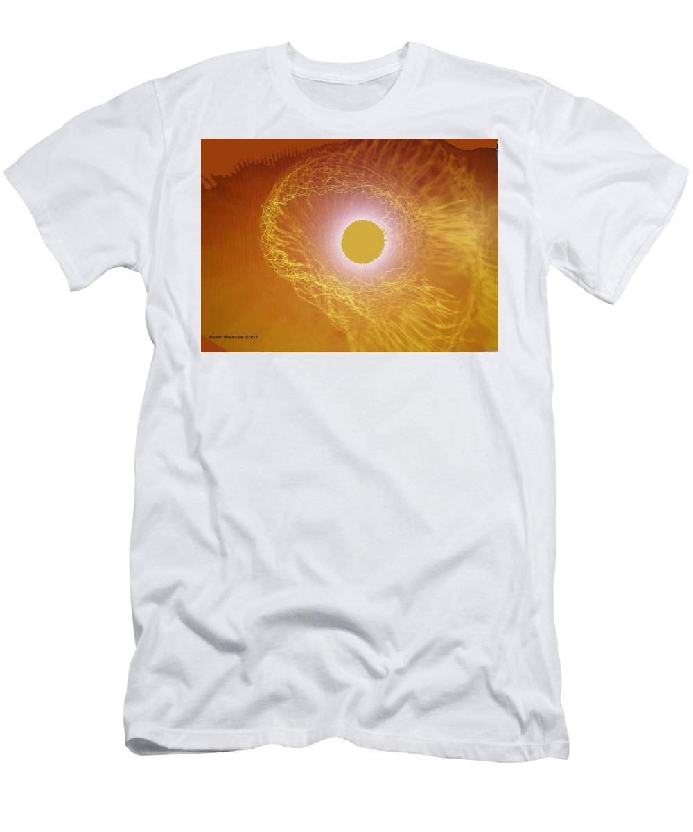 The Powerful Gaze Of The Almighty. Destroying Evil With His Almighty Sight. Men's T-Shirt (Athletic Fit) featuring the digital art Eye Of God by Seth Weaver