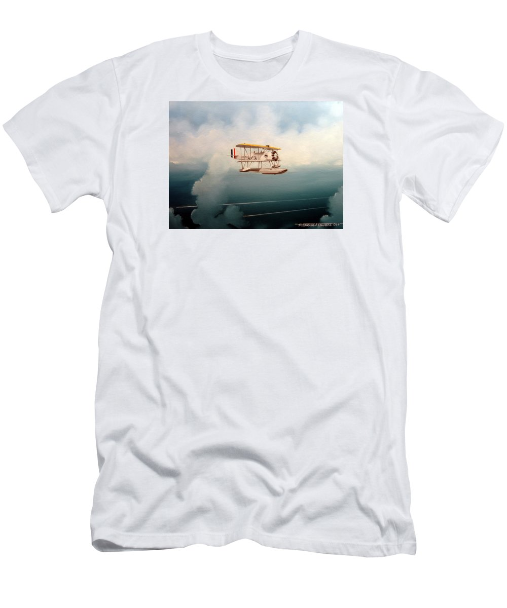 Military T-Shirt featuring the painting Eyes Of The Fleet by Marc Stewart