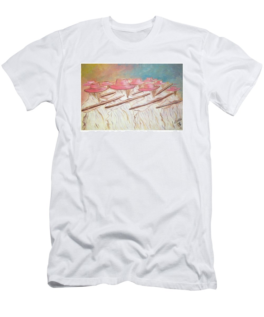 Abstract Men's T-Shirt (Athletic Fit) featuring the painting Eyo Festival by Olaoluwa Smith