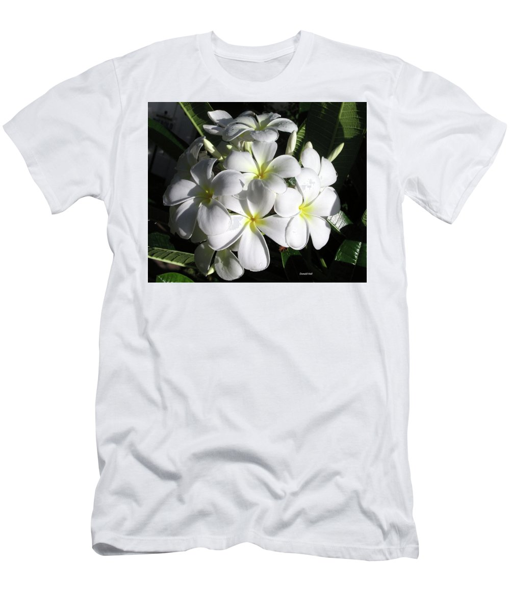 Plumeria Men's T-Shirt (Athletic Fit) featuring the photograph F13-plumeria Flowers by Donald k Hall