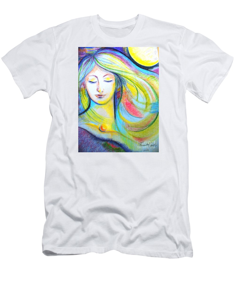 Portrait Men's T-Shirt (Athletic Fit) featuring the drawing Face by Fernanda Cruz