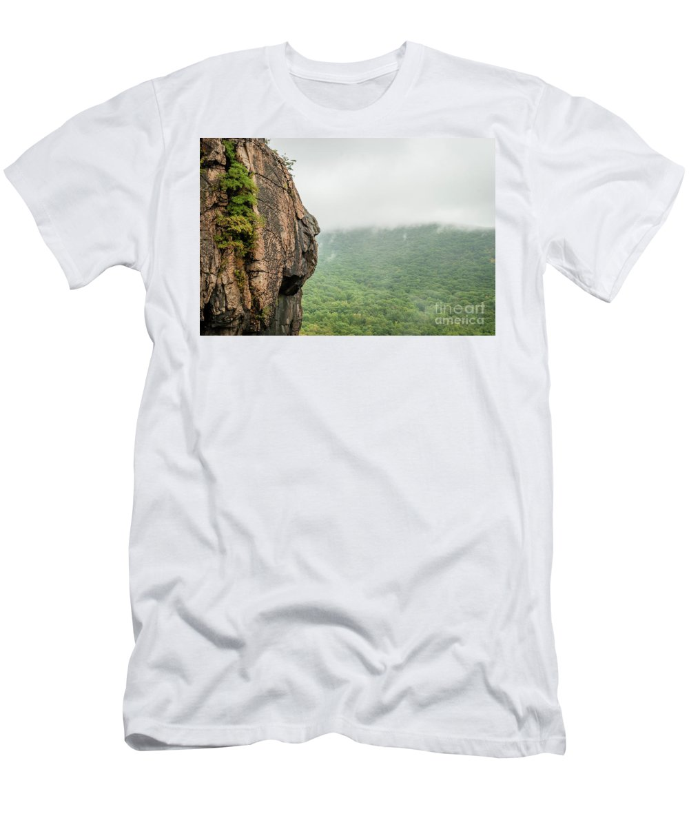 Abstract Colors Men's T-Shirt (Athletic Fit) featuring the photograph Face Mountain by Len Tauro