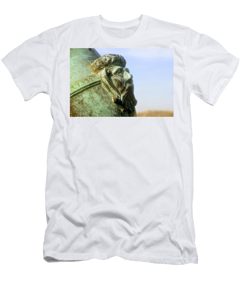 Cannon Men's T-Shirt (Athletic Fit) featuring the photograph Face On The Cannon by David Lee Thompson