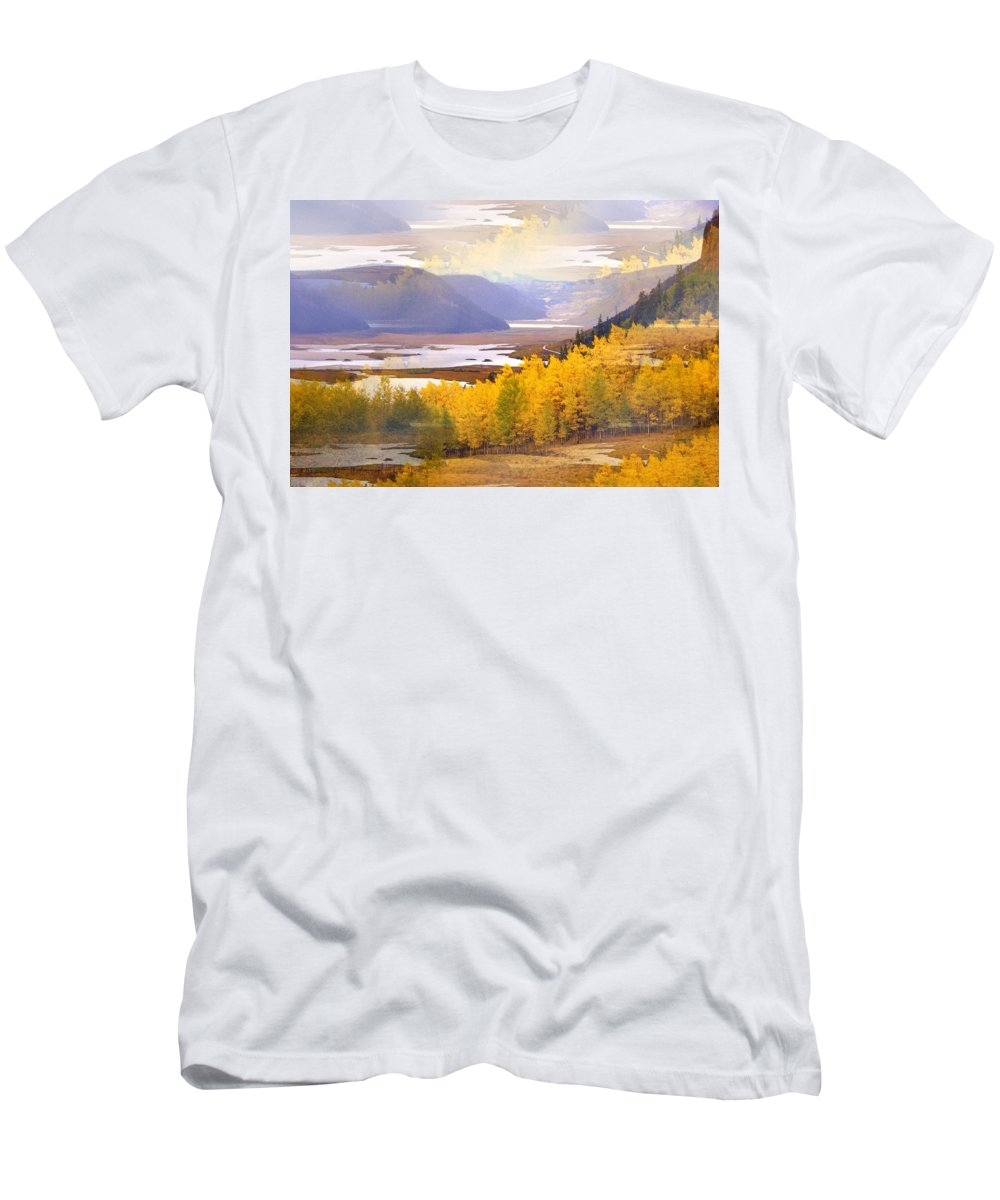 Fall Men's T-Shirt (Athletic Fit) featuring the photograph Fall In The Rockies by Marty Koch
