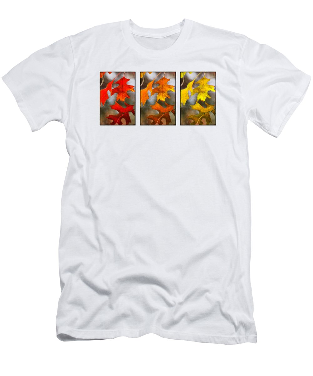 Leaves Men's T-Shirt (Athletic Fit) featuring the photograph Fall Leaves by Jill Reger
