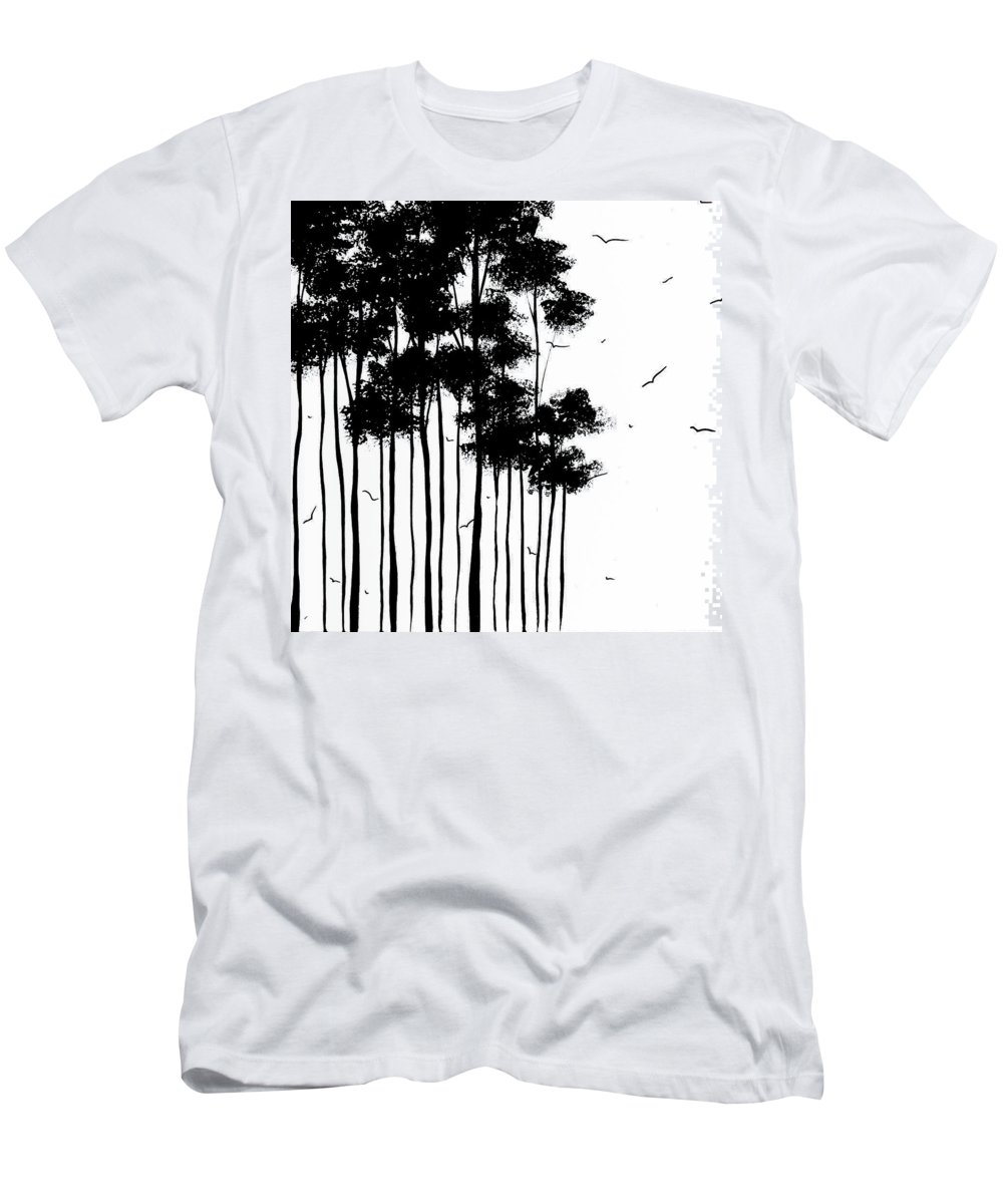 Painting Men's T-Shirt (Athletic Fit) featuring the painting Falls Design 1 by Megan Duncanson