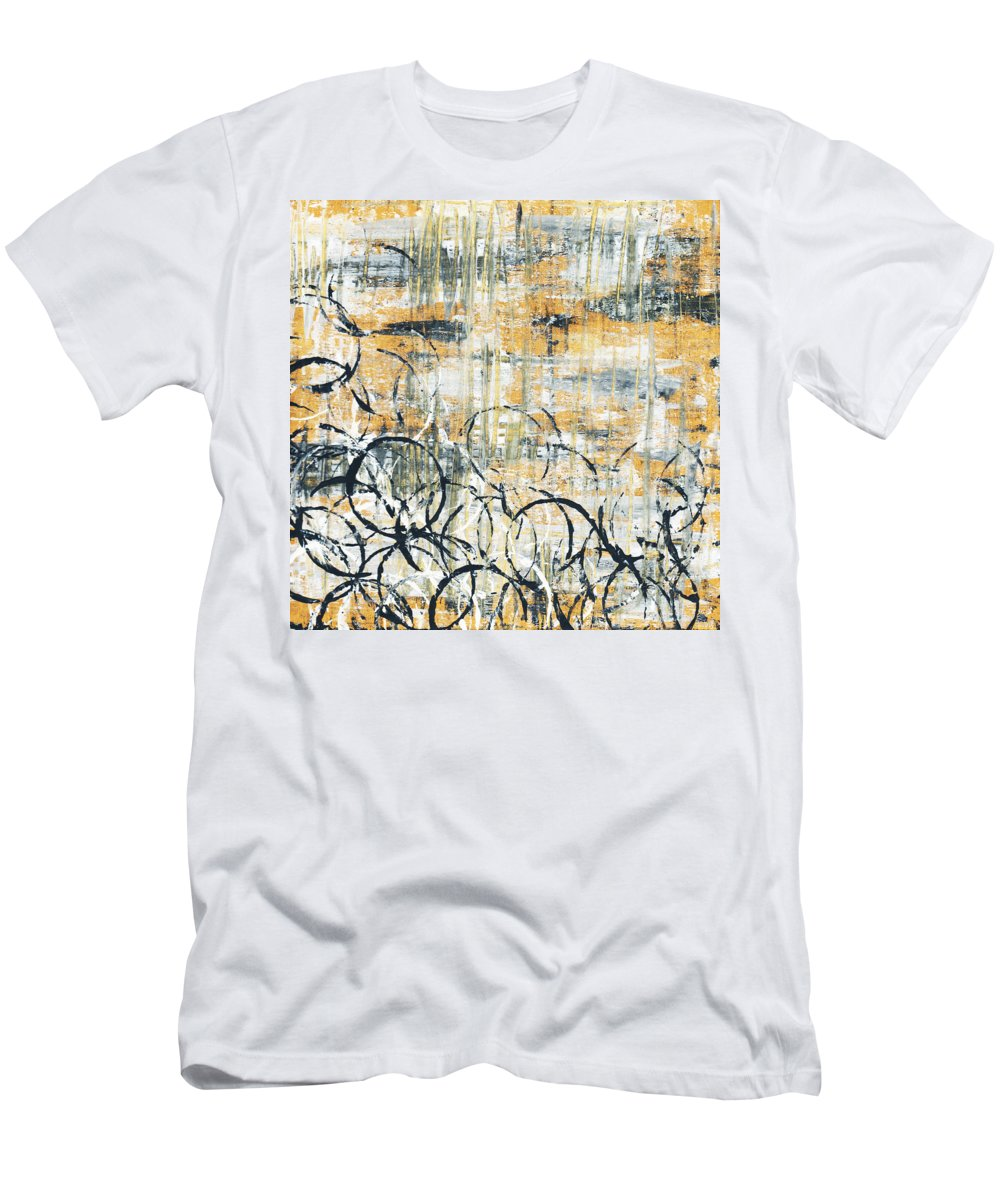 Painting Men's T-Shirt (Athletic Fit) featuring the painting Falls Design 3 by Megan Duncanson