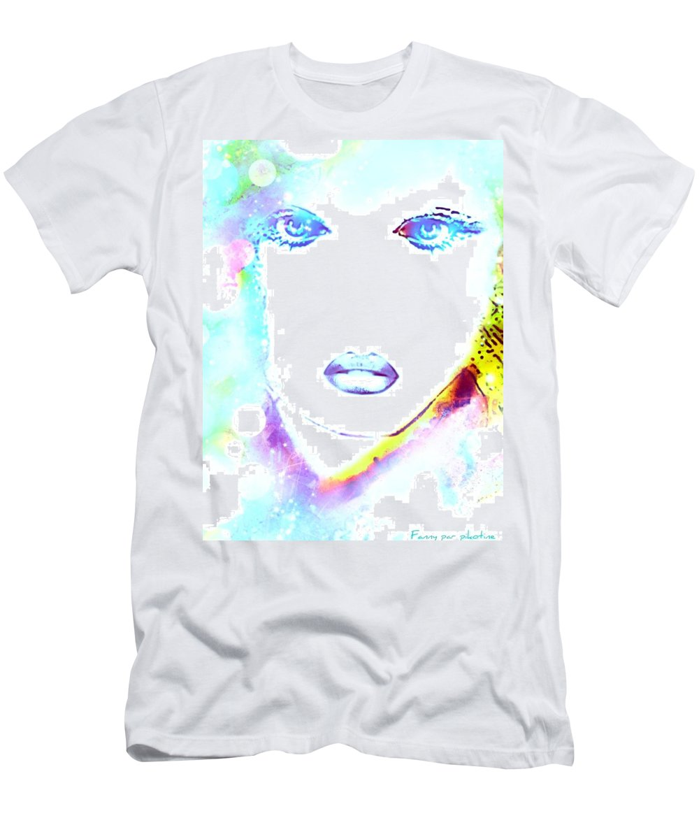Fanny Men's T-Shirt (Athletic Fit) featuring the digital art Fanny by Pikotine Art