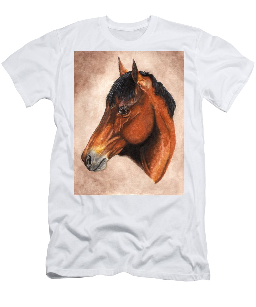 Horse Men's T-Shirt (Athletic Fit) featuring the painting Farley by Kristen Wesch