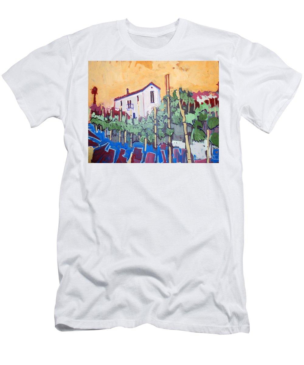 Farm House T-Shirt featuring the painting Farm House by Kurt Hausmann