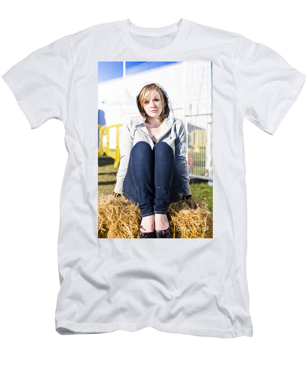 Adult Men's T-Shirt (Athletic Fit) featuring the photograph Farmland Female by Jorgo Photography - Wall Art Gallery