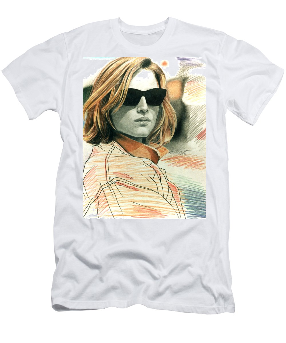 Shaun Men's T-Shirt (Athletic Fit) featuring the painting Fashion Illustration by Shaun McNicholas