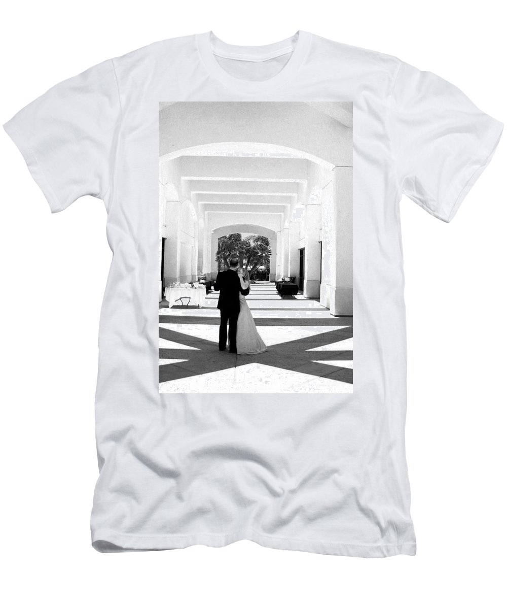 Dance Men's T-Shirt (Athletic Fit) featuring the photograph Father And Bride by Anthony Jones