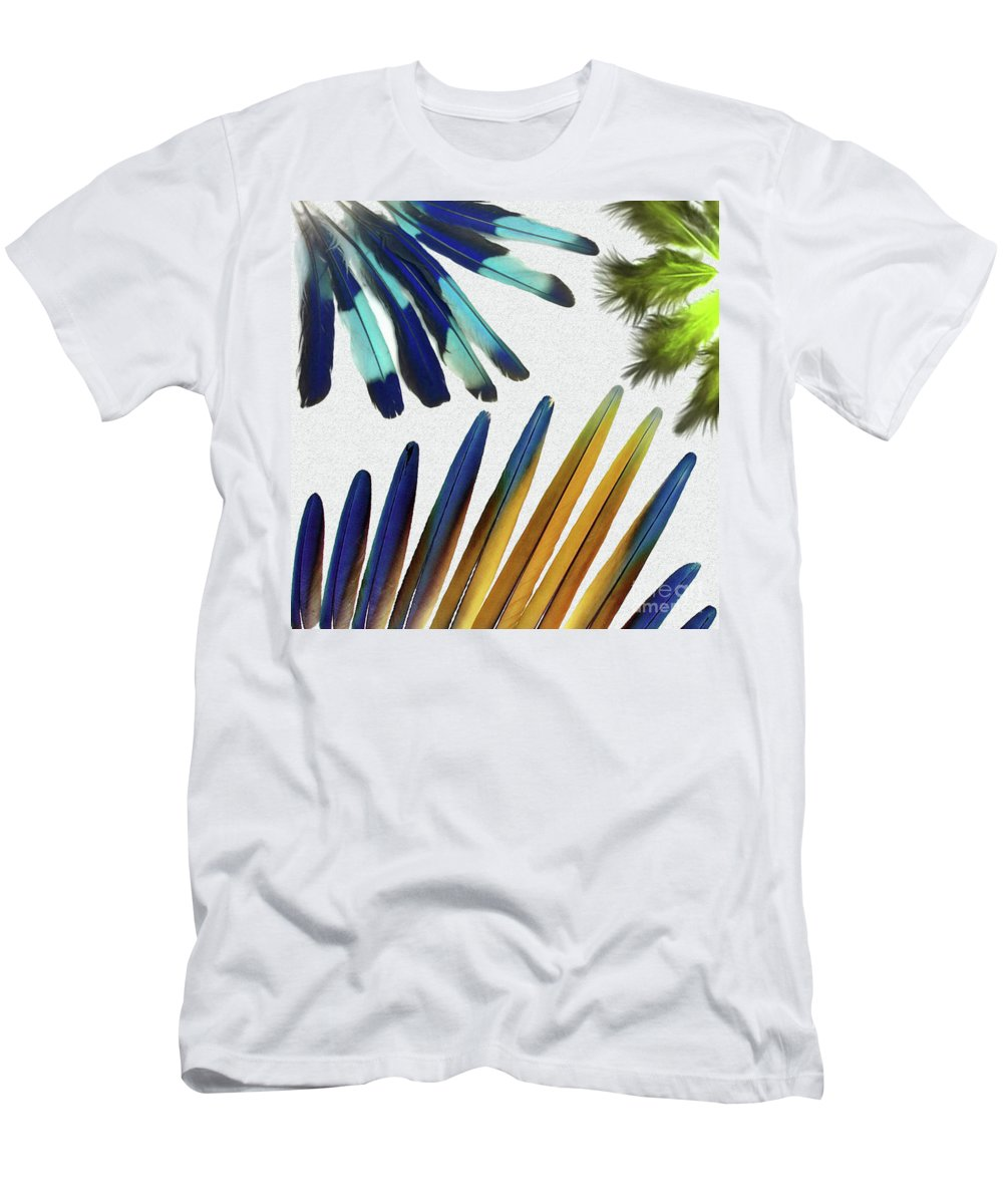 Feathers Men's T-Shirt (Athletic Fit) featuring the digital art Feathers by Ivan Angelovski
