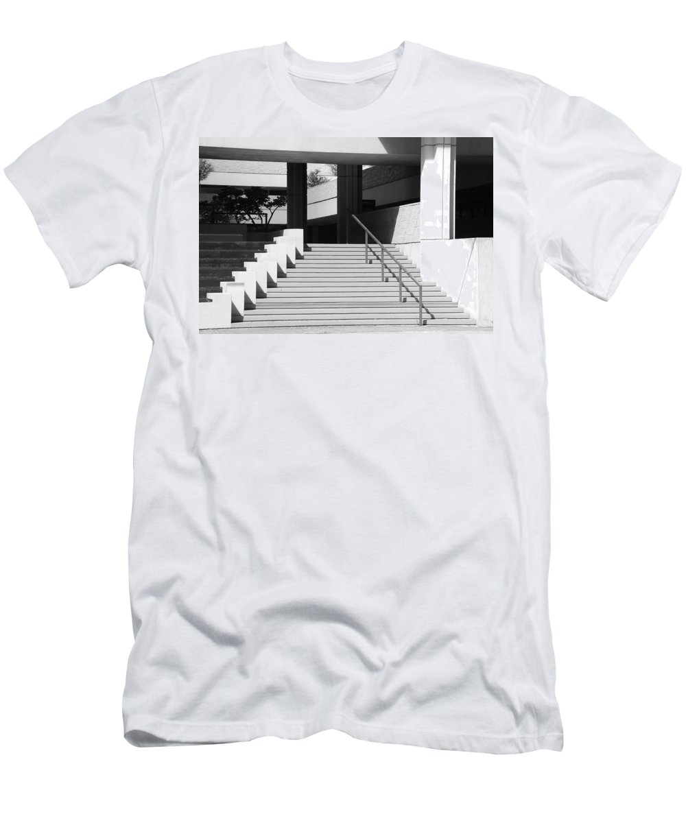 Architecture Men's T-Shirt (Athletic Fit) featuring the photograph Federal Stairs by Rob Hans