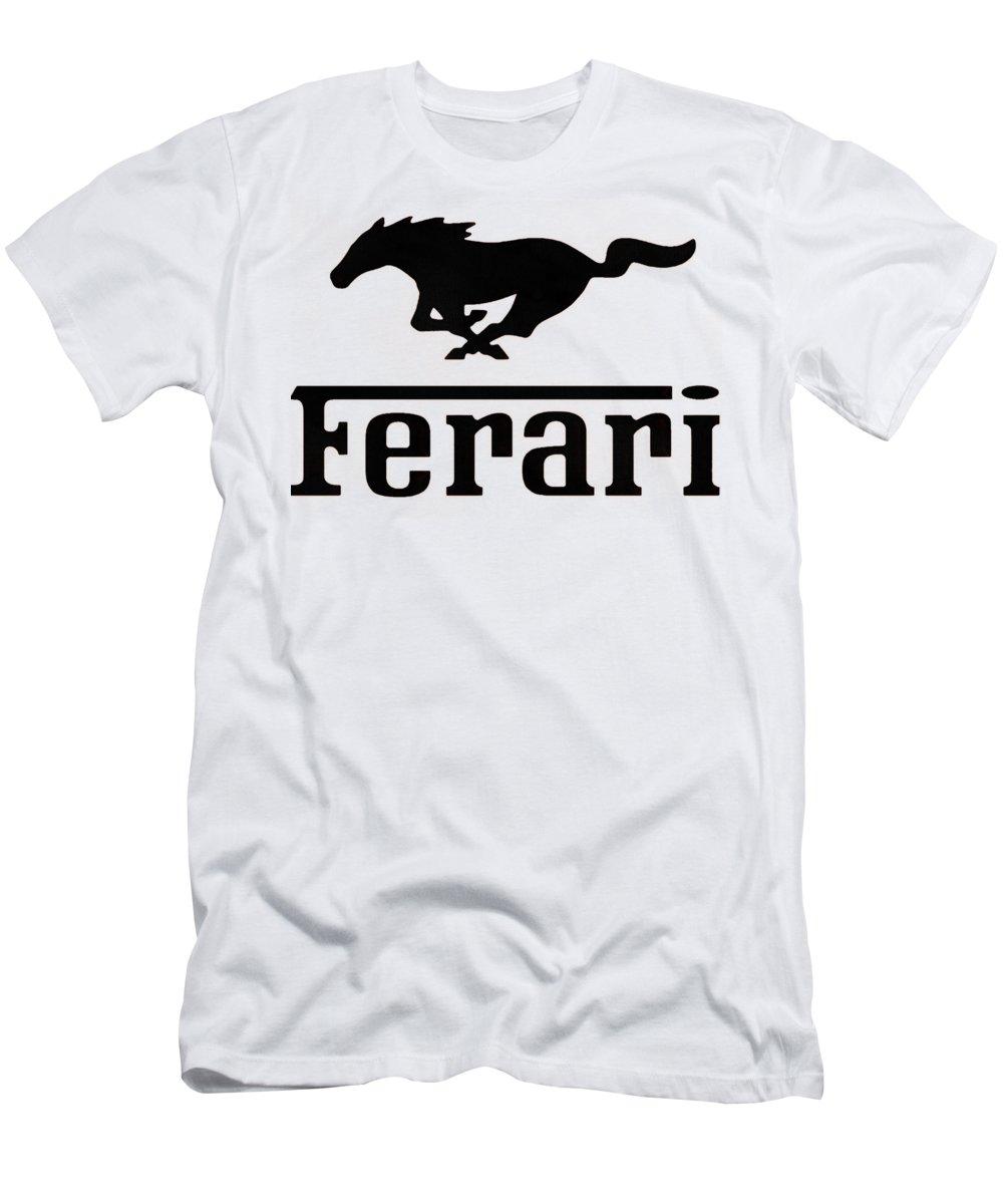 Ferrari T-Shirt featuring the digital art Ferari by Kesha Ursula