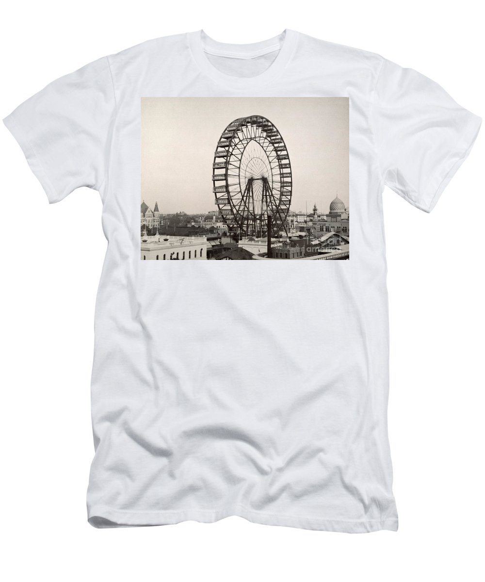1893 Men's T-Shirt (Athletic Fit) featuring the photograph Ferris Wheel, 1893 by Granger