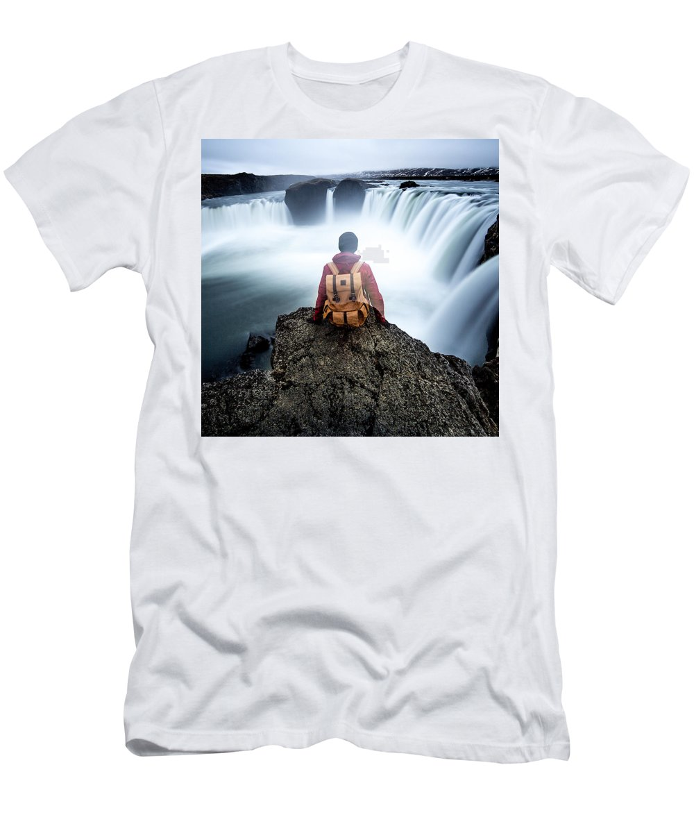 Landscape Men's T-Shirt (Athletic Fit) featuring the photograph Finding Our Place Of Zen by Lam Tu