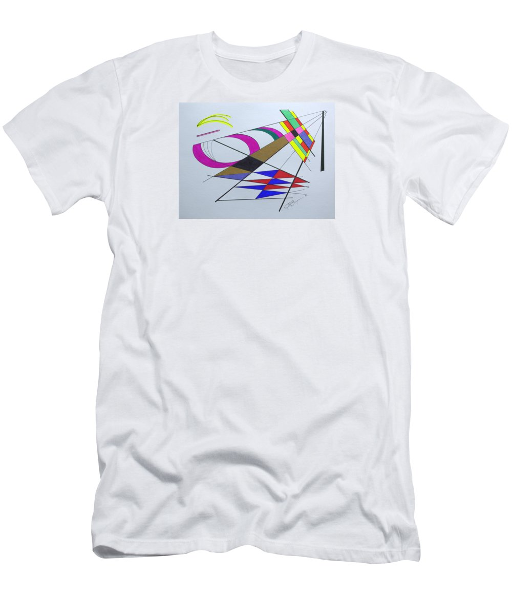 Abstract T-Shirt featuring the drawing Finding Serendipity by J R Seymour