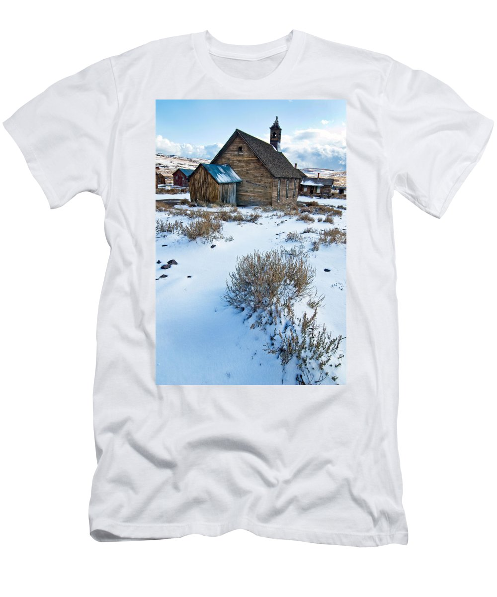 California Men's T-Shirt (Athletic Fit) featuring the photograph First Snow Bodie by Norman Andrus
