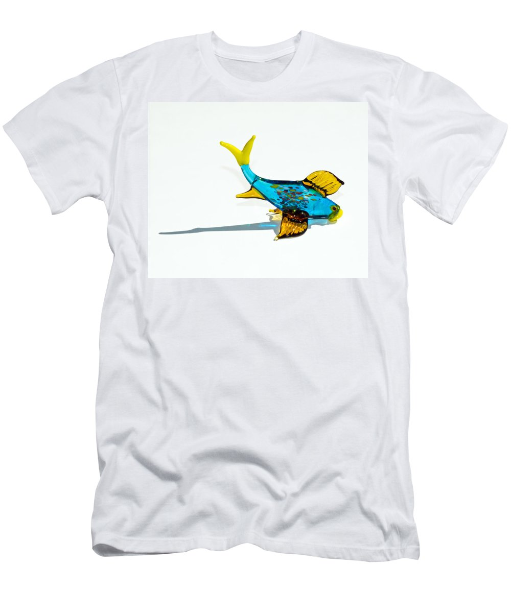 Tropic Men's T-Shirt (Athletic Fit) featuring the photograph Fish Out Of Water by Allan Hughes