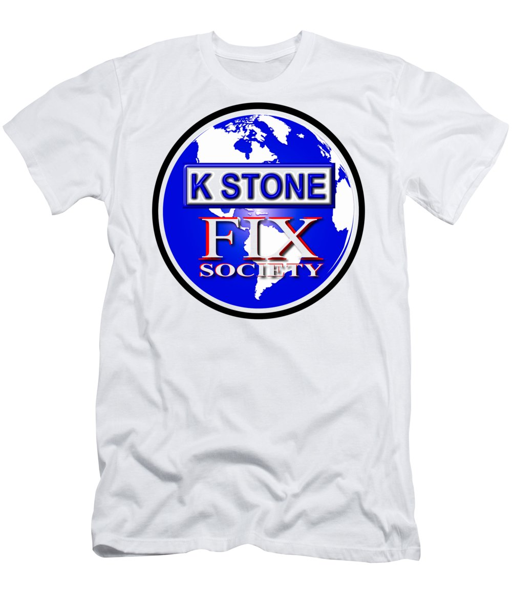 K Stone Men's T-Shirt (Athletic Fit) featuring the digital art Fix Society by K STONE UK Music Producer