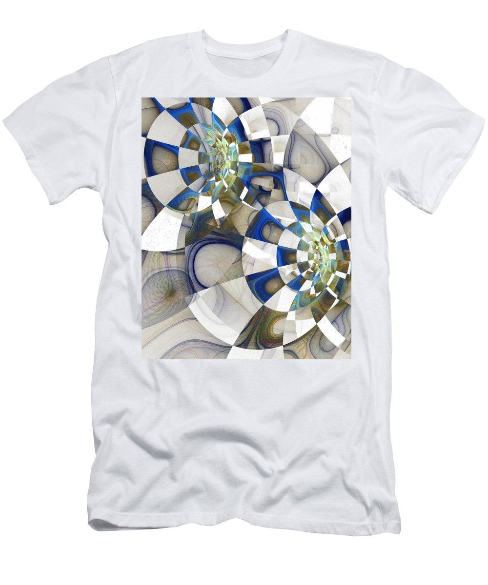 Digital Art Men's T-Shirt (Athletic Fit) featuring the digital art Flight by Amanda Moore