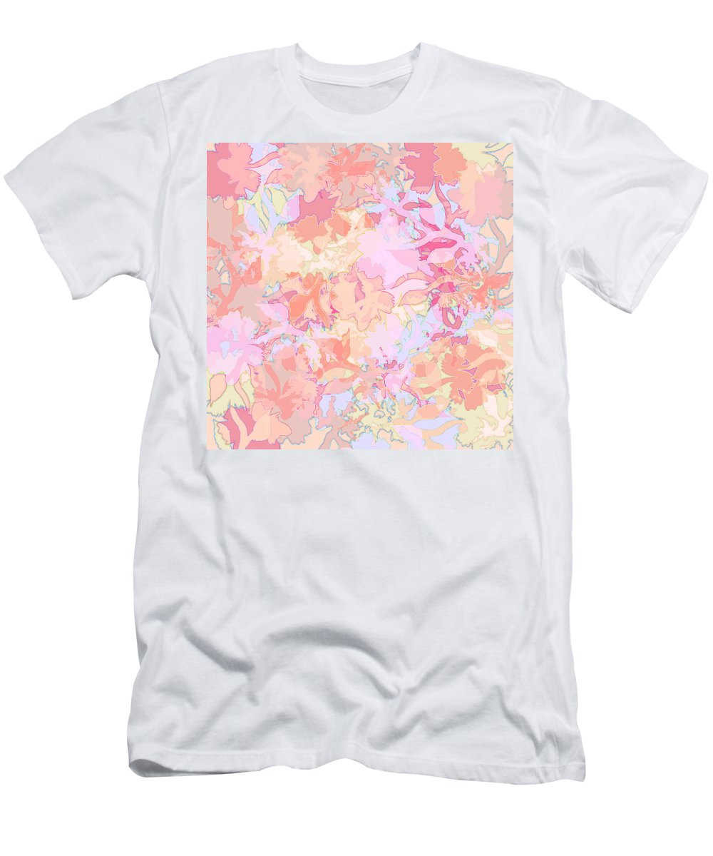 Abstract Men's T-Shirt (Athletic Fit) featuring the digital art Floral Menagerie by Rachel Christine Nowicki