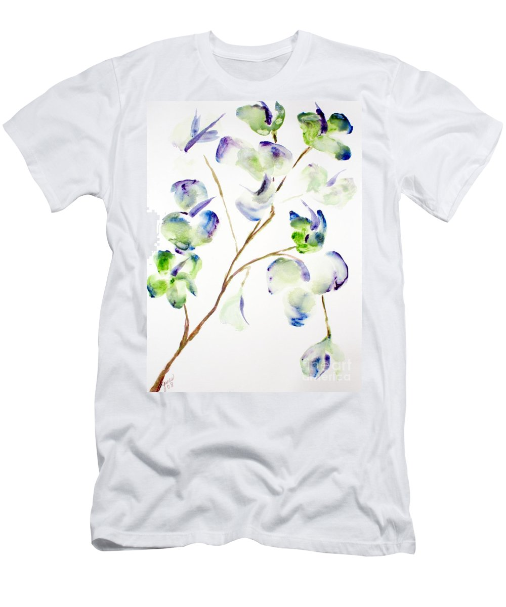 Flower Men's T-Shirt (Athletic Fit) featuring the painting Flower by Shelley Jones