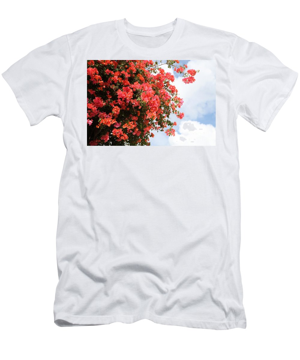 Hawaii Men's T-Shirt (Athletic Fit) featuring the photograph Flowering Tree by Nadine Rippelmeyer