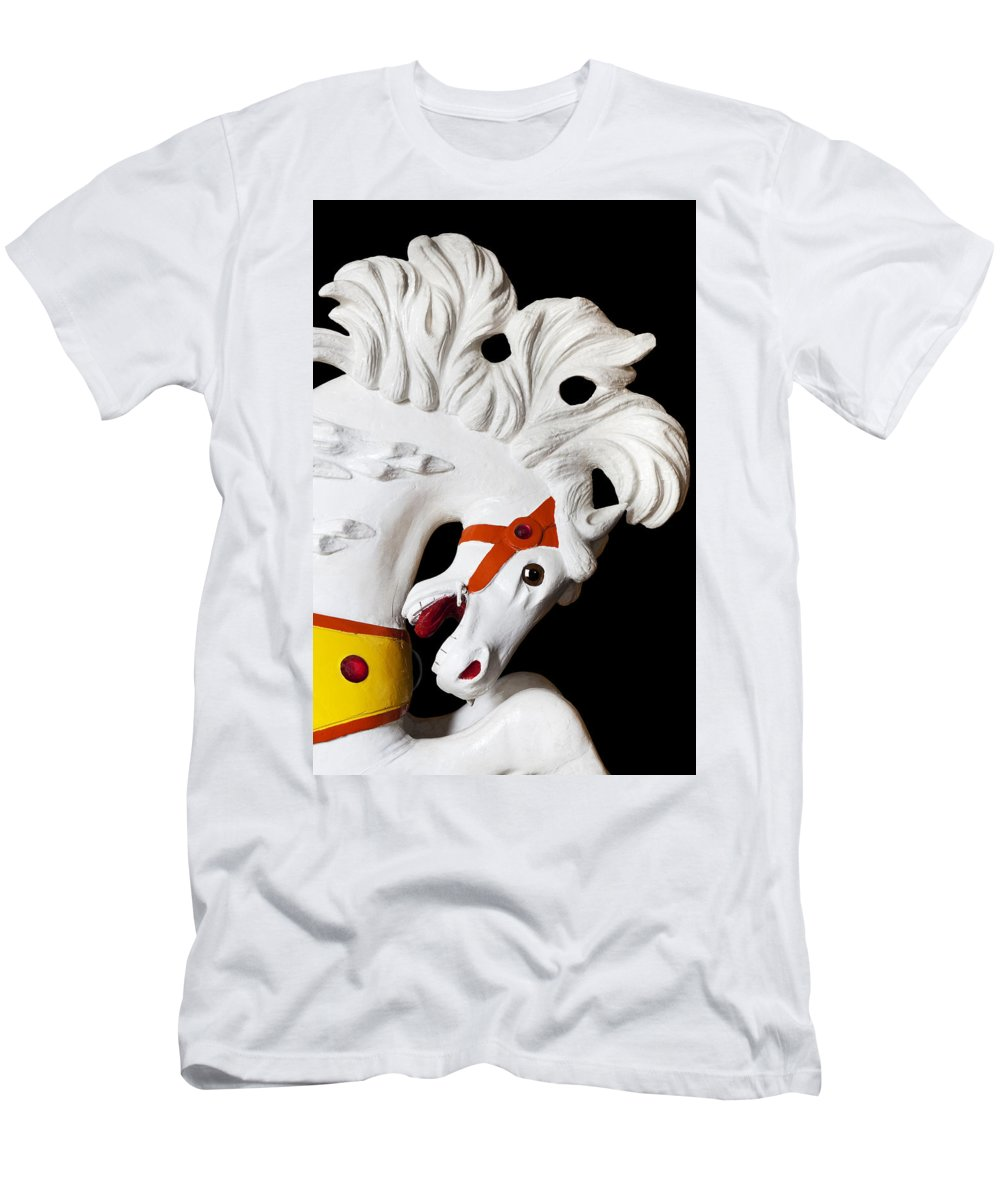 Carousel Men's T-Shirt (Athletic Fit) featuring the photograph Flowing Mane 2 by Kelley King