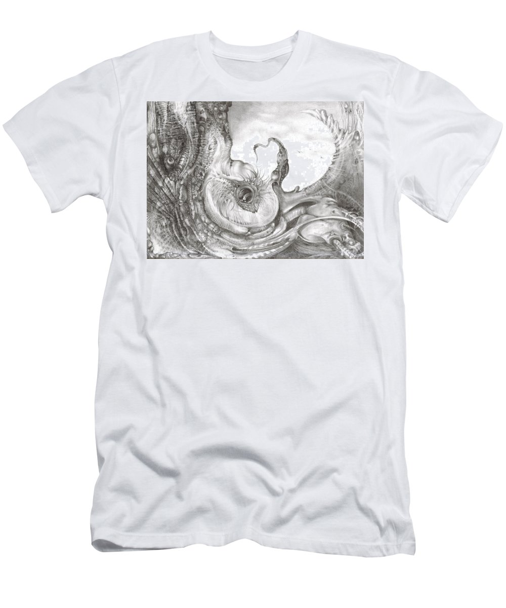 T-Shirt featuring the drawing Fomorii Incubator by Otto Rapp