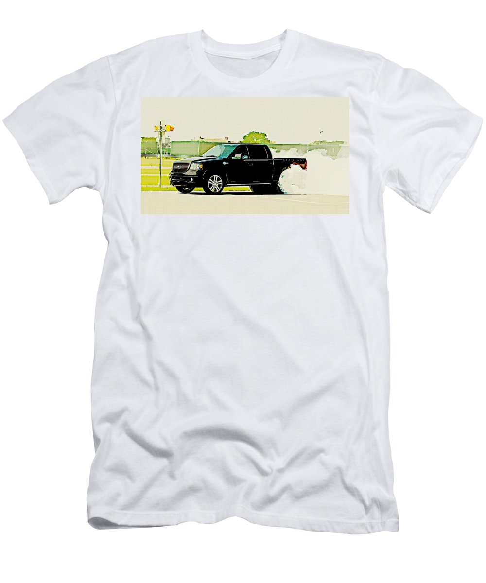 Ford F-150 Men's T-Shirt (Athletic Fit) featuring the digital art Ford F-150 by Lora Battle