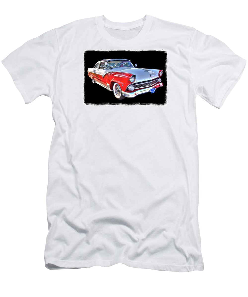 Old Ford Fairlane Men's T-Shirt (Athletic Fit) featuring the photograph Ford Fairlane by John McCuen