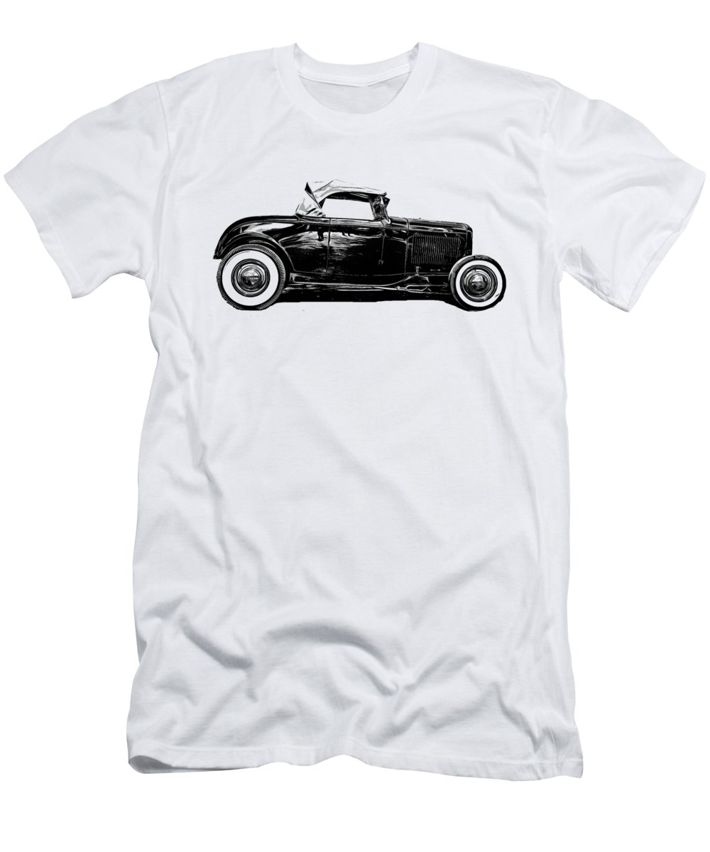Ford Men's T-Shirt (Athletic Fit) featuring the drawing Ford Hot Rod Tee by Edward Fielding
