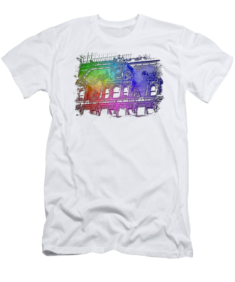 Forefathers T-Shirt featuring the photograph Forefathers Cool Rainbow 3 Dimensional by Di Designs