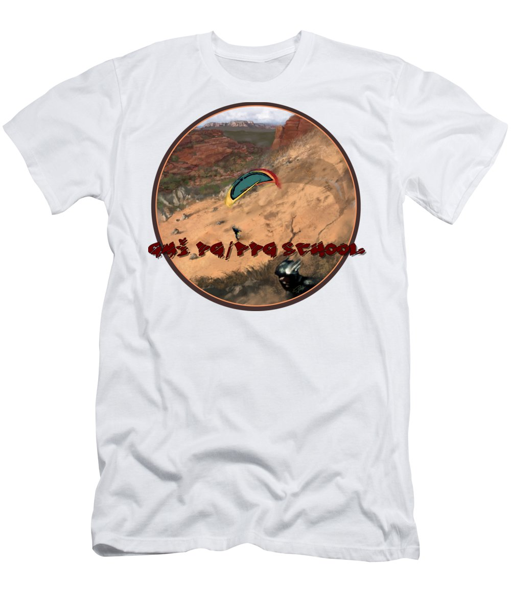 Paragliding T-Shirt featuring the digital art Franco's Dream by Phil R