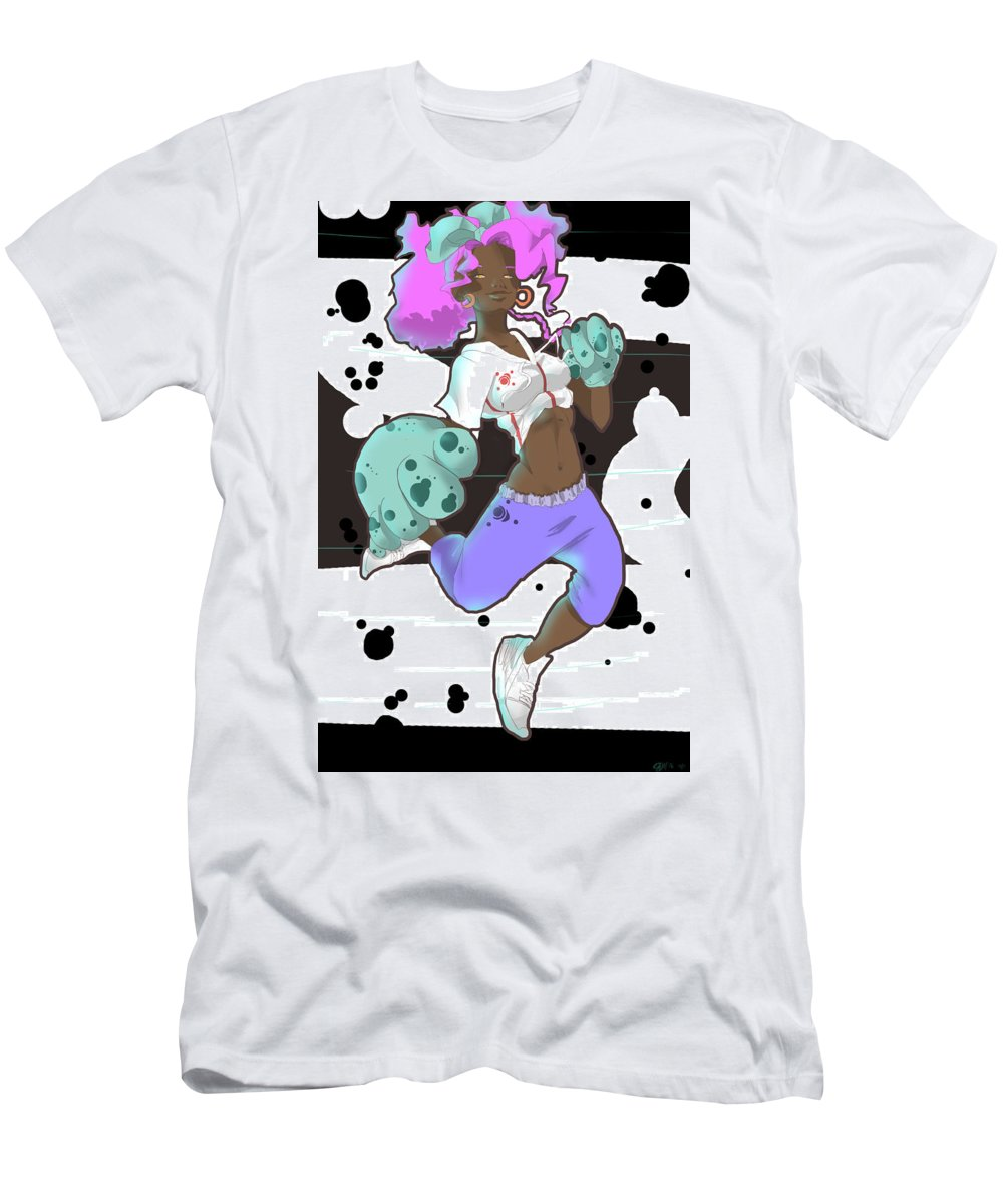 Anime Men's T-Shirt (Athletic Fit) featuring the drawing Free Be by Quinetta Middlebrooks