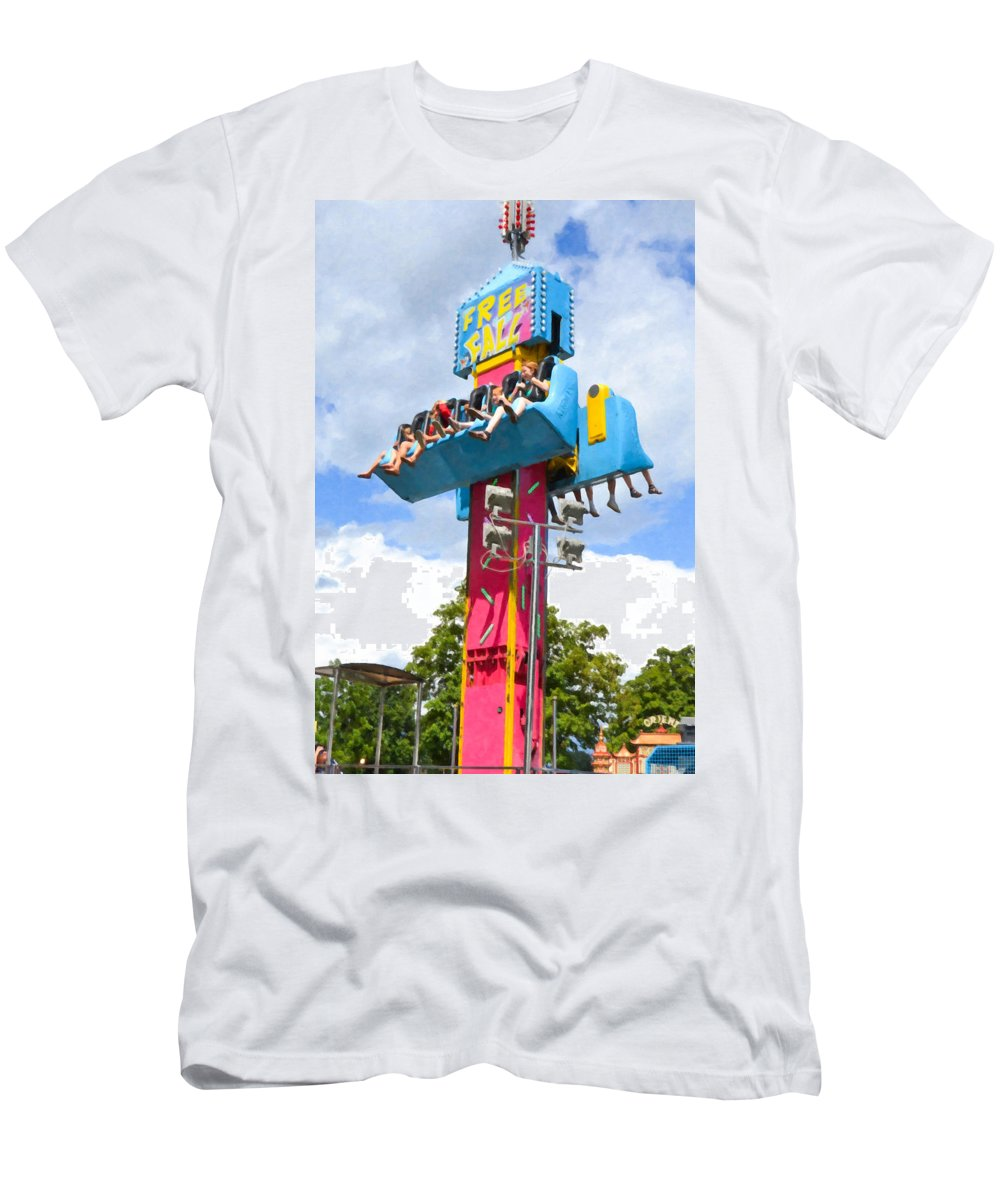 Free Fall Men's T-Shirt (Athletic Fit) featuring the painting Free Fall by Jeelan Clark