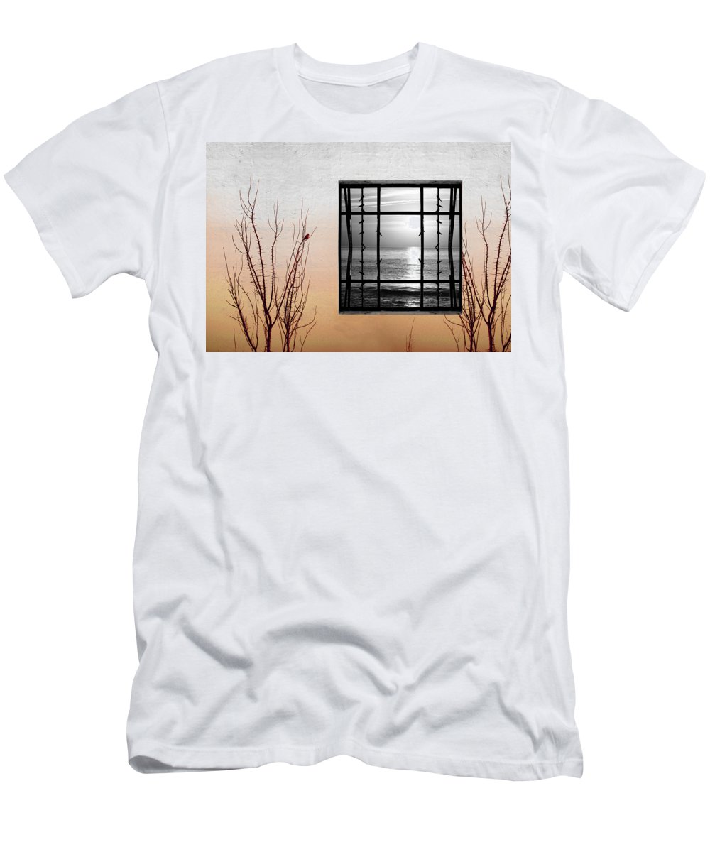 Digital Men's T-Shirt (Athletic Fit) featuring the photograph Freeze by Munir Alawi