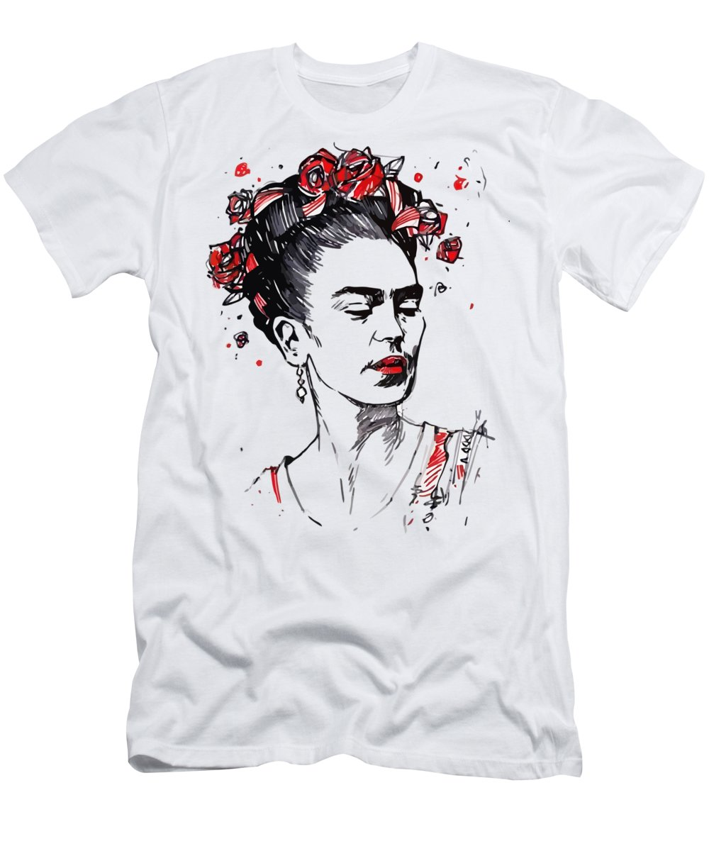 53194f608 Frida Kahlo Men's T-Shirt (Athletic Fit) featuring the drawing Frida Kahlo  by