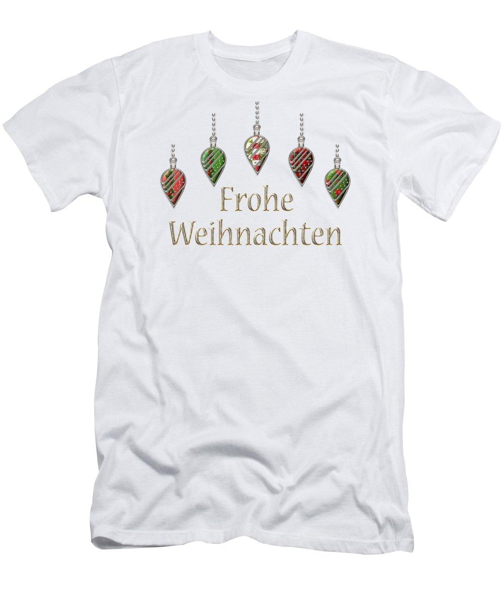 T Shirt Weihnachten.Frohe Weihnachten German Merry Christmas Men S T Shirt Athletic Fit
