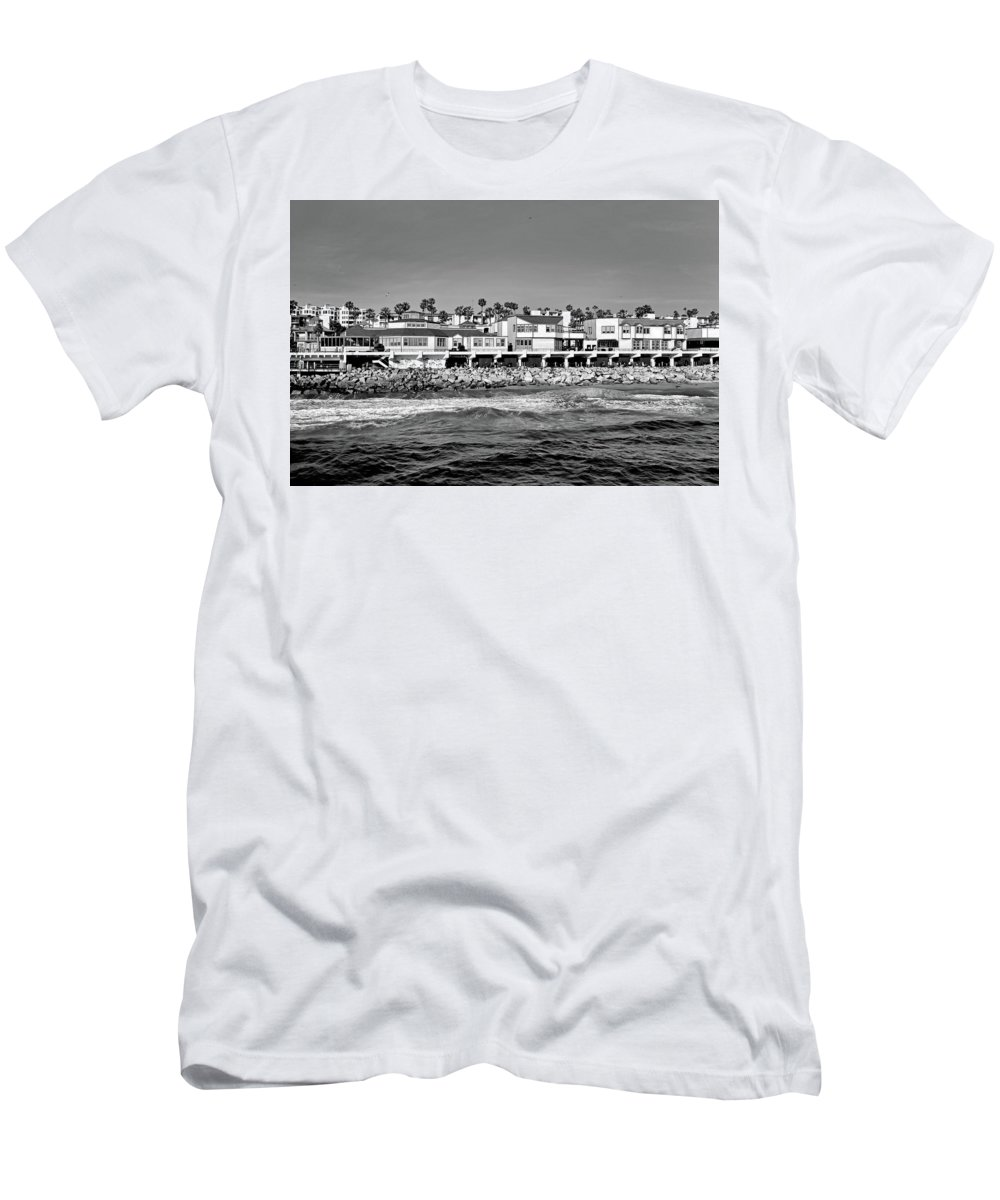 Redondo Beach Men's T-Shirt (Athletic Fit) featuring the photograph From Redondo Beach Pier by Robert Meyers-Lussier