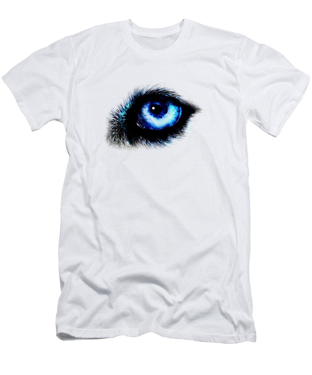 Malakhova Men's T-Shirt (Athletic Fit) featuring the digital art Full Moon Reflection by Anastasiya Malakhova